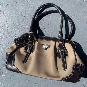 PRADA preloved tan/beige bag/purse
